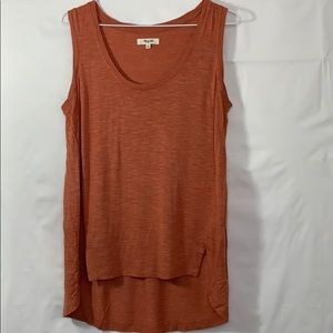 Madewell anthem tank split side tee viscose drapey